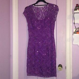 Purple Adrianna Papelle cocktail dress
